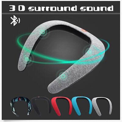 Soundgear Bluetooth Wireless Neckband Neck Speaker FM AUX SD USB Stereo