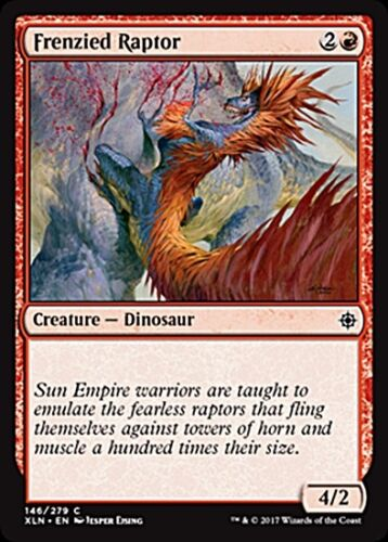 4 FRENZIED RAPTOR ~mtg NM//M Ixalan Com x4