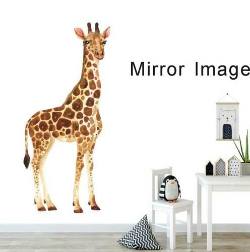 Animal Giraffe Wall Decal Kids Nursery Stickers Baby Cot Decor Art Mural Gift