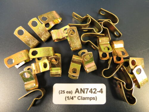 """Lot of 25 each Loop Clamps for 1//4"""" Lines Brake Fuel Air Hose Wire"""