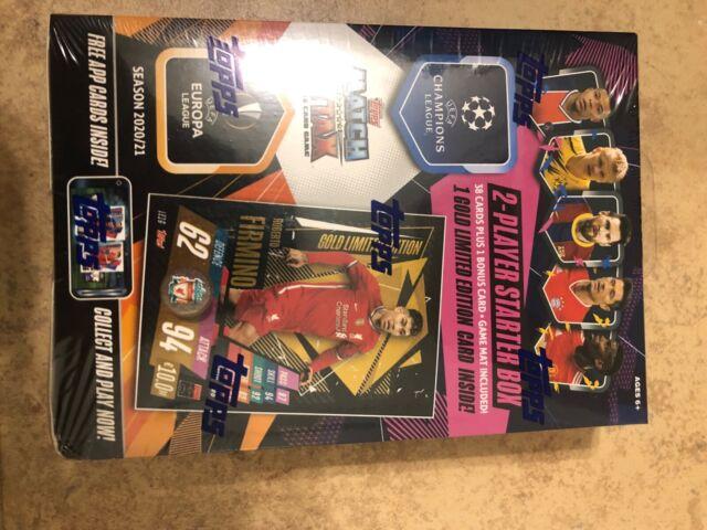 los paquetes 2020//21 Match Attax UEFA Champions-Starter Pack Mega latas