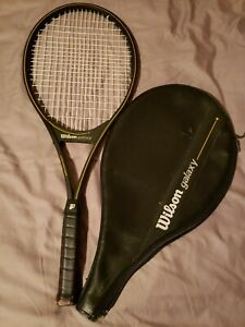 Wilson-Galaxy-Ultra-Braided-Graphite-Tennis-Racquet-4-5-8-With-Cover