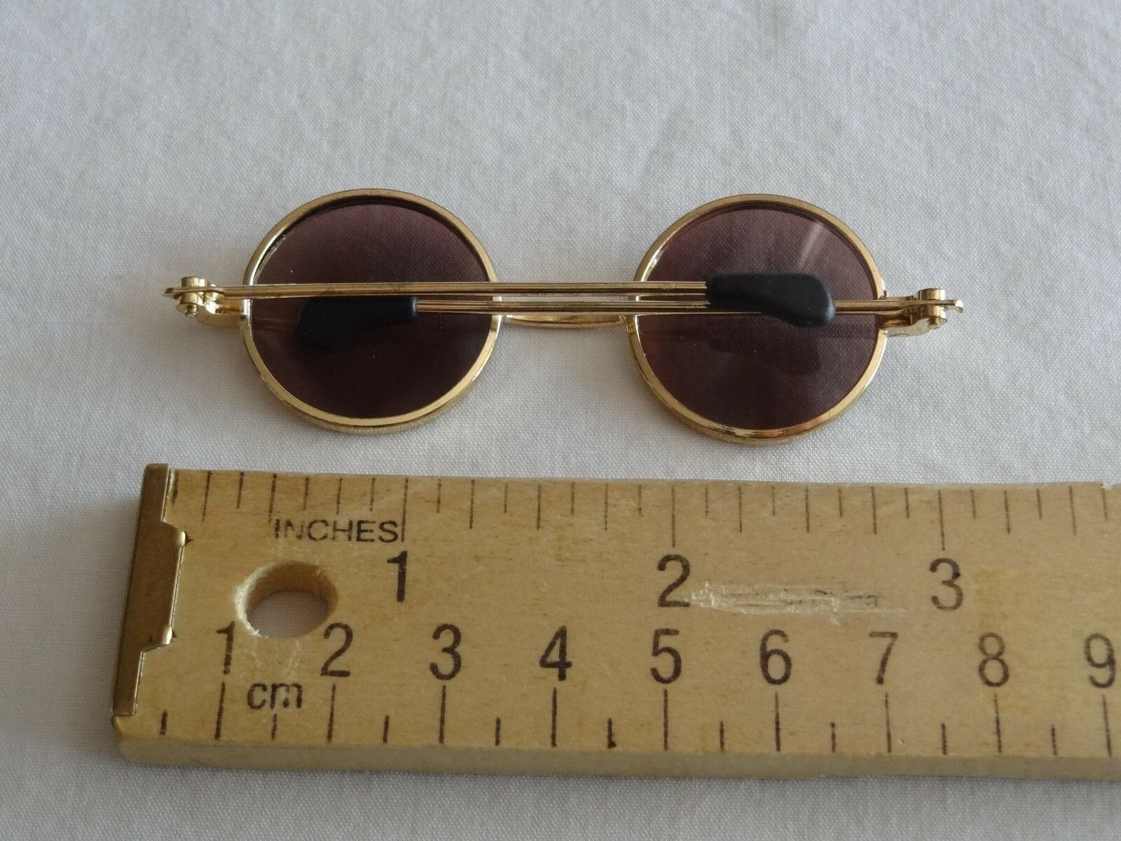 "Vintage Syndee/'s ~3/"" Metal Frame Doll Sunglasses Purple Lense Glasses 1997"