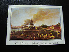FRANCE - carte postale - rochefort (vielle gravure le port) 1980 (cy27) french