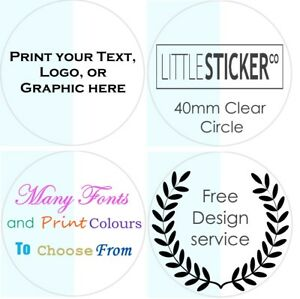 CLEAR-Stickers-Personalised-Favor-Favours-labels-Party-Gift-seals-glossy-x50