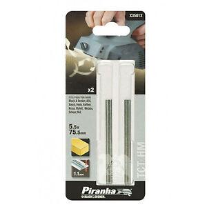 BLACK-DECKER-X35012-XJ-Piranha-Lame-per-pialletto-TCT-HM-5-5x75-5-mm-conf-2-pz