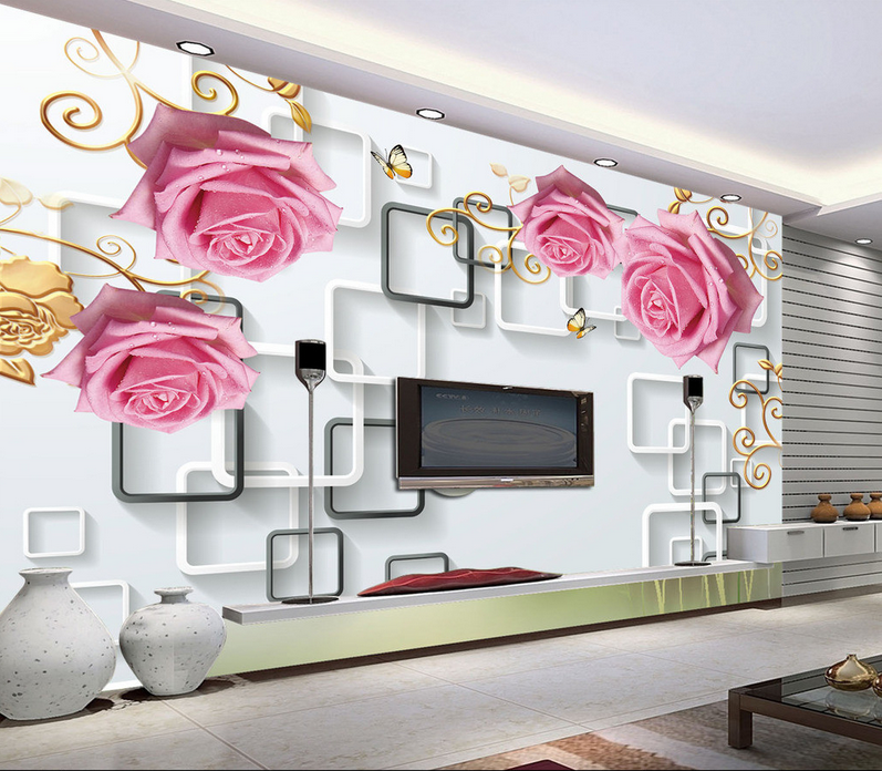 3D Rosa Rosan Rahmen 84 Tapete Wandgemälde Tapete Tapeten Bild Familie DE Summer | Schöne Farbe  | Nicht so teuer  | Ausgewählte Materialien