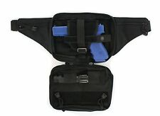 Black Tactical Pistol Fanny Pack CCW Concealed Carry Gun Pouch with Holster CWP