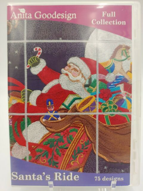 Santa/'s Visit Anita Goodesign Embroidery Machine Design CD NEW 124AGHD