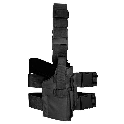 Condor TLH Tactical Leg Holster Black - Adjustable for M to L pistol