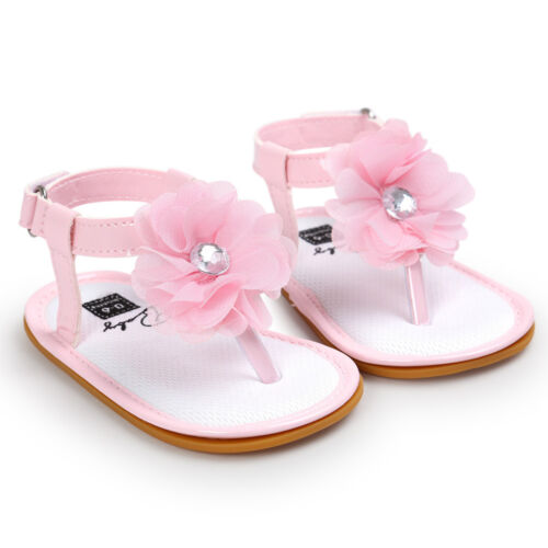 Baby Shoes Flower Pearl Sandals Toddler Princess First Walkers Girls Kid Shoes
