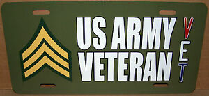 Sergeant-E-5-US-Army-Veteran-OD-Green-Aluminum-License-Plate-Made-in-USA
