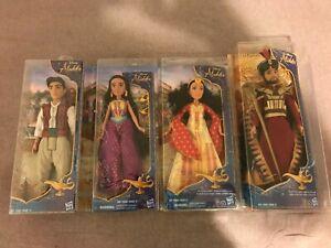 Disney-Lot-of-4-Princess-Jasmine-Aladdin-Jafar-Dalia-12-034-w-monkey-Abu-LOOK