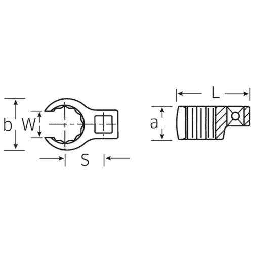 STAHLWILLE Hahnenfuß-Ringschlüssel 13 mm CROW-RING