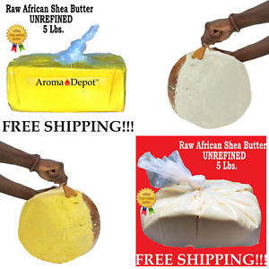 5 Lbs Raw African Shea Butter 100% Pure Natural Organic Unrefined Bulk Wholesale