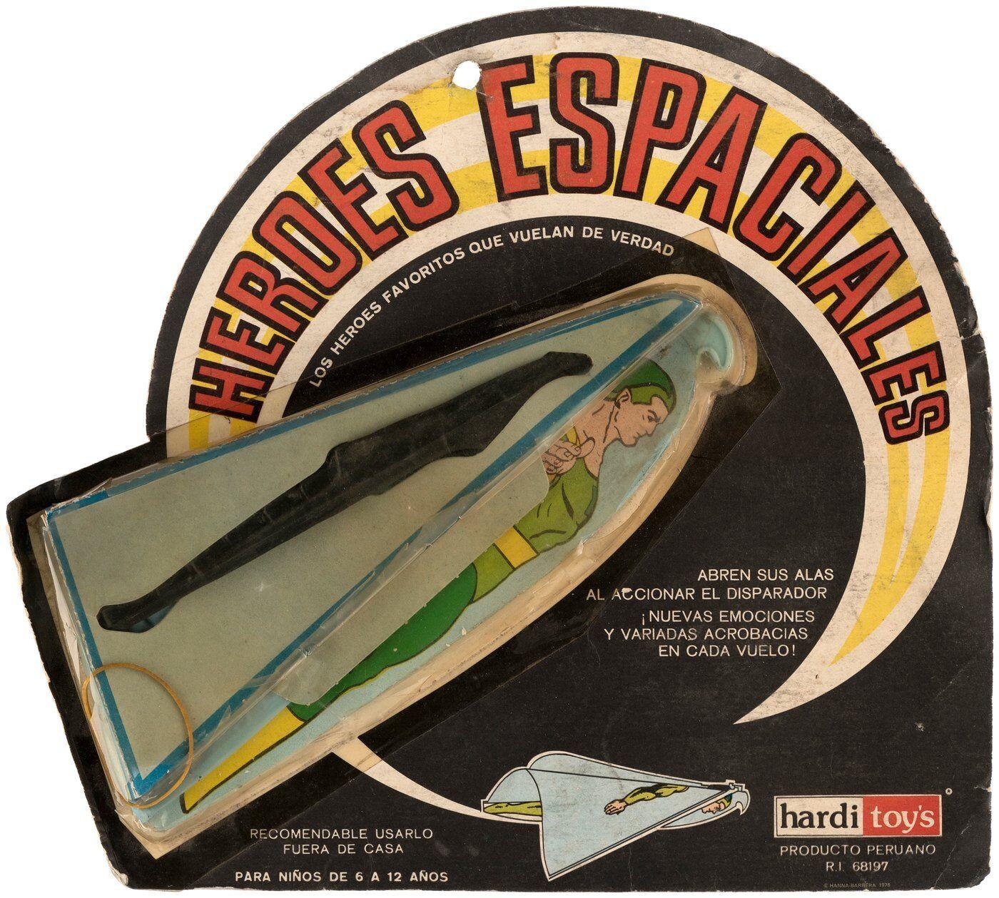 VAPOR MAN SPACE HEROES Hang Glider Hanna Barbera Peru MOC 1967 RARE Galaxy Trio