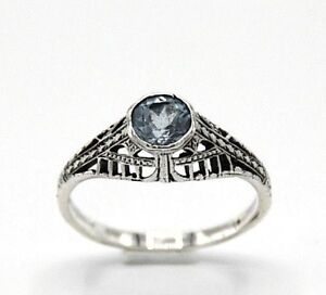 Blue-Topaz-Ring-Blue-Topaz-925-Sterling-Silver-Antique-Style-18-1-MM