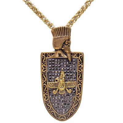 Silber PT Cyrus The Great Farvahar Faravahar Halskette Persische King Persia