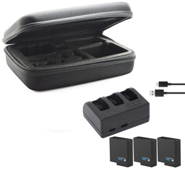 1220 Original Mah Batterie + Triple Chargeur + Étui Sac Pour Gopro Accessoire Hero 5 Demande DéPassant L'Offre