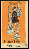 Barbie 11 1/2 Teen Fashion Doll Fabric Sewing Pattern Clothes Wardrobe 9475
