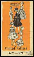 Barbie 11 1/2 Teen Fashion Doll Fabric Sewing Pattern Clothes Wardrobe 9475