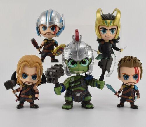 Thor Ragnarok action figures Hulk Loki figurines toy models 5 versions 10cm//4in.