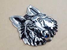 3D Metal Wolf Head Badge Emblem Decal Sticker Auto Car Motorcycle Fuel Tank