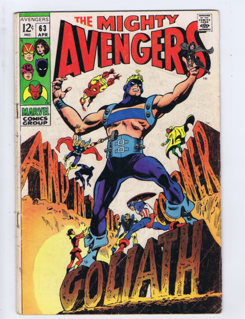 Avengers #63 Marvel 1969 And in This Corner Goliath !