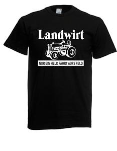 Herren T-Shirt Landwirt Tracktor Bauer Sprüche Lustig bis 5XL