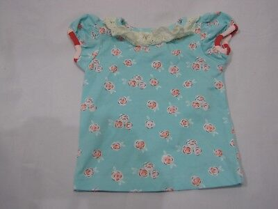 Responsible Matilda Jane Blue Pink Flower Ruffle Lace Collar Stripe Trim Baby Girl Shirt 6 M A Great Variety Of Goods Clothing, Shoes & Accessories