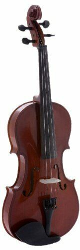 D'Luca Meister Ebony Fitted Beginner Violin Outfit 1 4