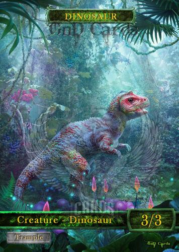 3x Dinosaur #3 Custom Altered Tokens MTG Ixalan