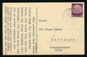 Generalgouvernement-Nr-7-EF-Postkarte-KRAKAU-29-3-40-n-ZAKOPANE-61360
