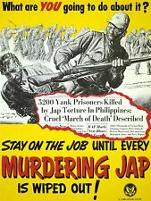 ART PRINT POSTER PROPAGANDA WWII WAR USA MURDER JAPAN POW CRUEL NOFL1027