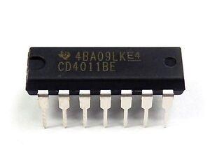 5PCS-CD4011BE-CD4011-CMOS-Quad-2-Input-NAND-Gate-New-IC