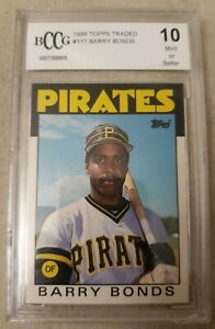 1986-TOPPS-TRADED-BARRY-BONDS-ROOKIE-CARD-GRADED-10-MINT-BECKETT-BCCG-11T