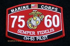 MOS 7560 CH-53 PILOT PATCH US MARINES PIN UP USS FMF GIFT