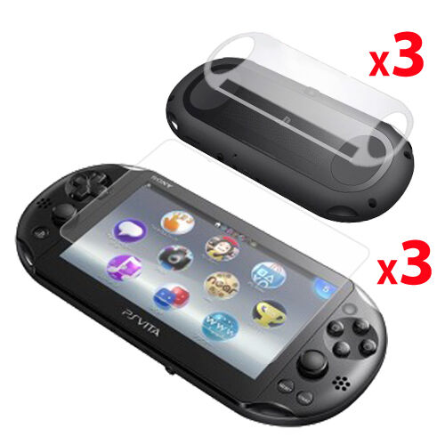 3 x FRONT & BACK CLEAR Screen Protectors for Sony Playstation PS VITA SLIM /2000