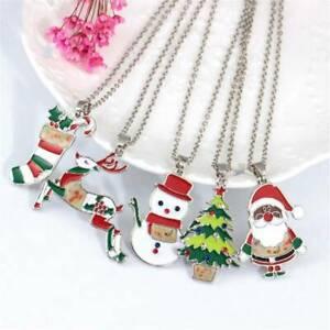 Fashion-Christmas-Santa-Claus-Xmas-Tree-Pendant-Necklace-Chain-Women-Jewelry