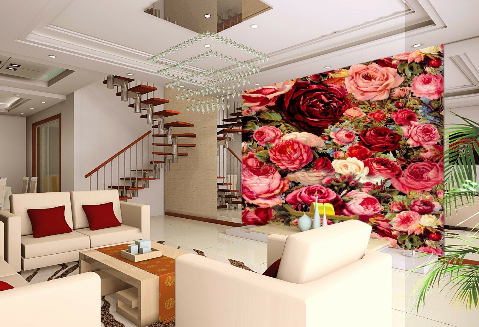 3D Beautiful Roses 76 Wall Paper Murals Wall Print Wall Wallpaper Mural AU Kyra