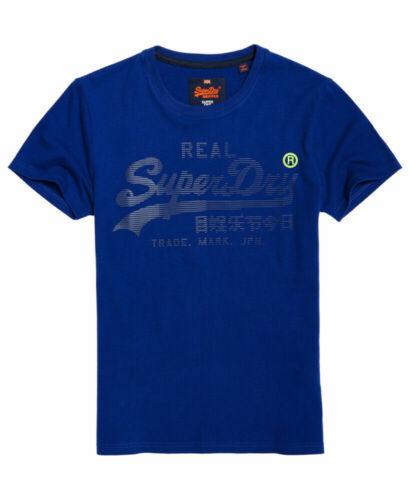 Nouvelle Chemise Superdry Homme Véritable Logo 1St T-shirt Lay Up Bleu Taille S