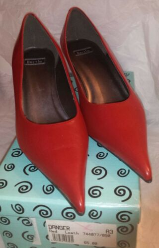Leather Bertie Rrp Toe £65 Pointy Red Shoes Bnib Size 41 With 45dqpAAw