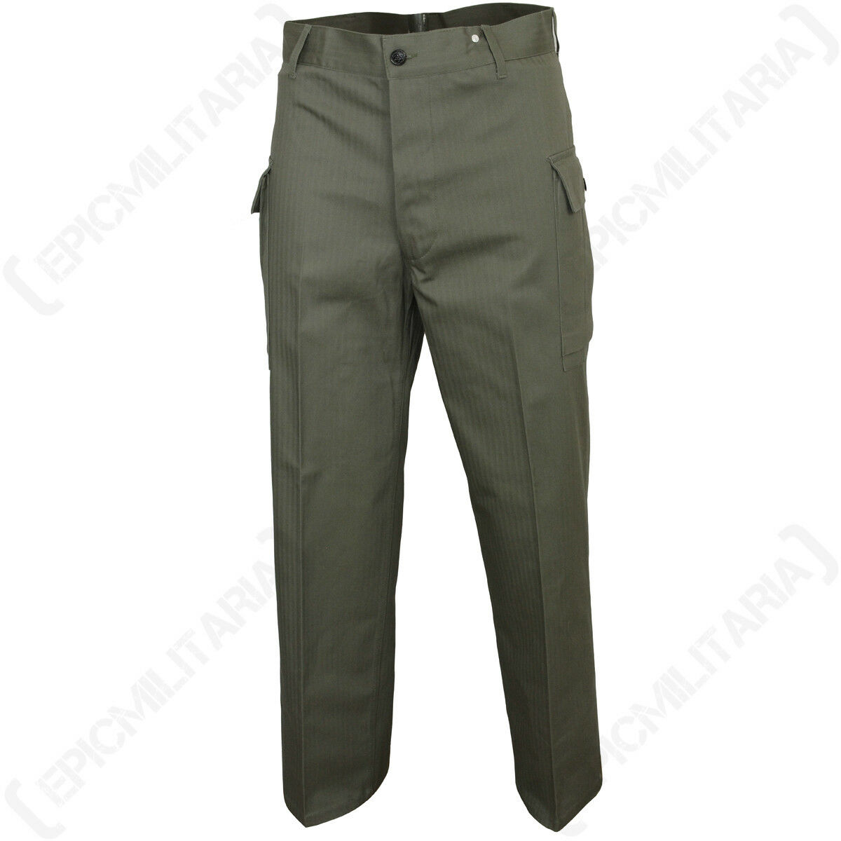 American HBT Trousers - US Army WW2 Repro Military Green All Sizes Pants New