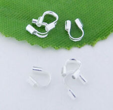 100/200pcs Wire Guardian Protectors Crimp loops Jewelry findings 4x5mm Pick