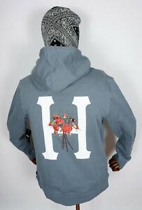 Huf Worldwide Pullover Hooded Hoodie Memorium Classic H Blue Mirage in S