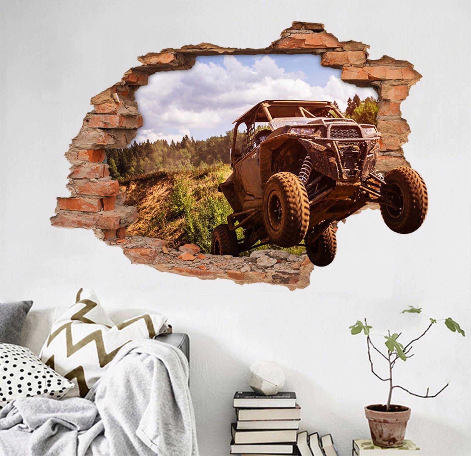 3D Berg Auto 43 Mauer Murals Aufklebe Decal Durchbruch AJ WALLPAPER DE Kyra