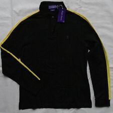 Ralph Lauren Purple Label  Black Stretch Cotton Polo Shirt Gr M