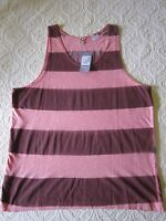 $60 G-star Tank Top 100% Cotton Sprayed Striped Sz Xl