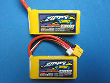 2 ZIPPY COMPACT 1300mAh 2S LIPO BATTERY 7.4V 40C 50C XT60 CAR TRUCK HELI PLANE