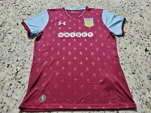 Under Armour Aston Villa Fc Home Jersey Youth Size Large Ebay